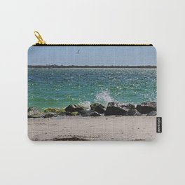 Teal Rapture Carry-All Pouch