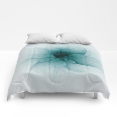 Dark Flower Fractal Comforters