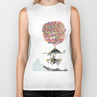 brompton Biker Tanks featuring Riding A Bicycle Through The Mountains by Wyatt Design