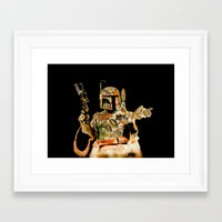 boba Framed Art Prints featuring Boba by Robotic Ewe
