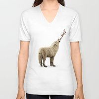 howl V-neck T-shirts featuring howl by Seamless