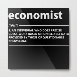 Economist Definition Metal Print