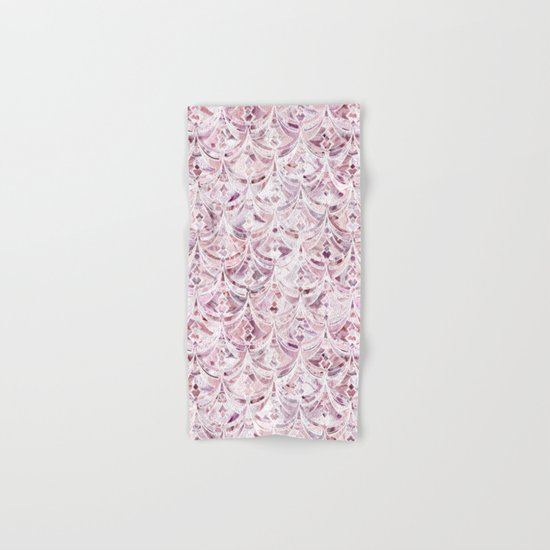 Berry Frosting Art Deco Pattern  Hand & Bath Towel