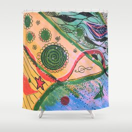 Doodleing Shower Curtain