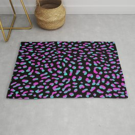 Psychedelic Purple Leopard Rug