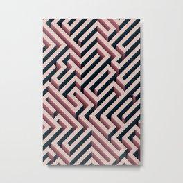 Pink Maze Metal Print