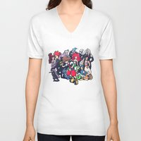 kingdom hearts V-neck T-shirts featuring Kingdom Hearts by Jaimie Hutton