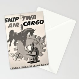 Vintage Placard Air Cargo voyage poster Stationery Cards
