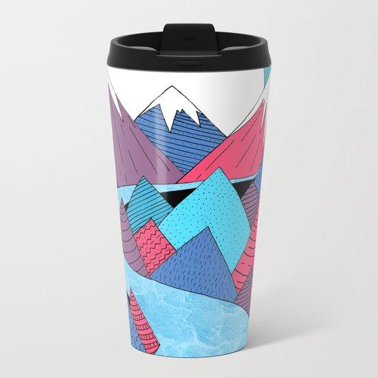 Blue Sky River Metal Travel Mug