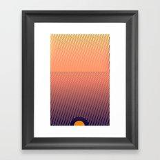 Something in the line Framed Art Print