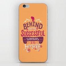 Successful woman iPhone & iPod Skin