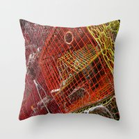 tangled Throw Pillows featuring Tangled  by Caitlin Swindell