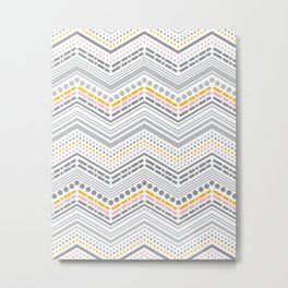 Dash & Dot - Neapolitan Chevron Metal Print