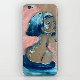 Blue Swirl iPhone Skin