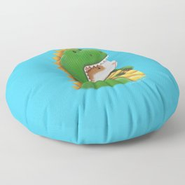 Guinea Pig in a Dinosaur Costume - Peegosaurus Rex Floor Pillow