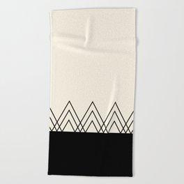 Black Triangles Beach Towel