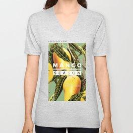Mango Season #society6 #decor #buyart Unisex V-Neck