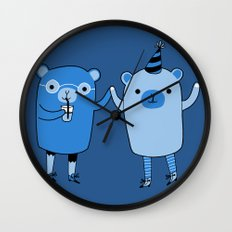 Pawty Time Wall Clock