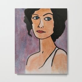 Lady with the Blue Eyes Metal Print