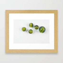 Shiny Happy Marble People Framed Art Print