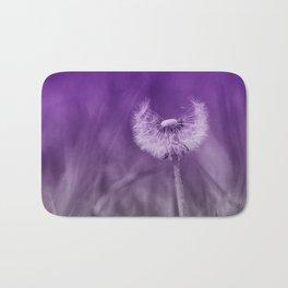Purple Dandelion Bath Mat