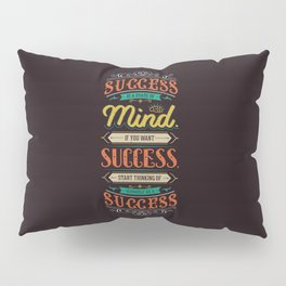 Lab No. 4 Success Is Joyce Brothers Life Inspirational Quote Pillow Sham