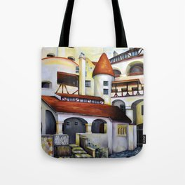 Dracula Castle - the interior courtyard Tote Bag
