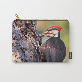 Pileated Woodpecker at Work Carry-All Pouch