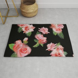 Montage of Roses Rug