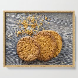 crumbs round-shaped oatmeal cookies Serving Tray