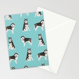 Alaskan malamute  dog breed pet lover malamute gifts Stationery Cards