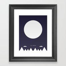 Full Moon - Moon Phases Framed Art Print