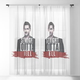 Straight Outta Hell Sheer Curtain