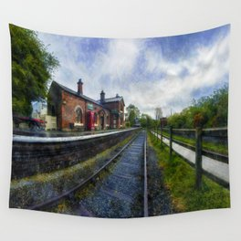 Olde Road Railway Station Wall Tapestry