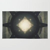 hamlet Area & Throw Rugs featuring Oberon - Hamlet Crater by Fabled Creative
