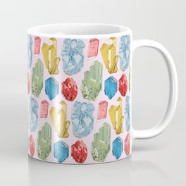 Crystals and Minerals Pattern Coffee Mug