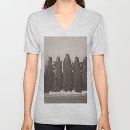 The Incredible Magnificent Seven Sunderland Sisters with their long dark hair black and white photo Unisex V-Neck
