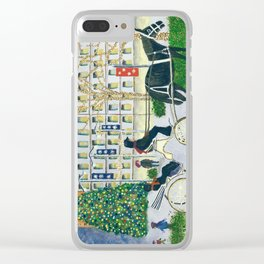 Carriage Ride on Woodward Avenue Clear iPhone Case