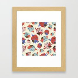 Colorful seashells. Framed Art Print