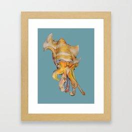 Rainbow Cuttle Framed Art Print