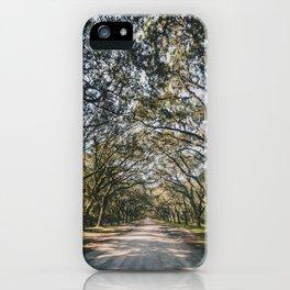 Wormsloe Live Oak Avenue - Savannah iPhone Case