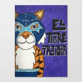 Luchamals Series- El Tigre Traidor Canvas Print