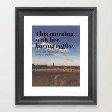 coff Framed Art Print