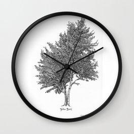 Yellow Birch Wall Clock