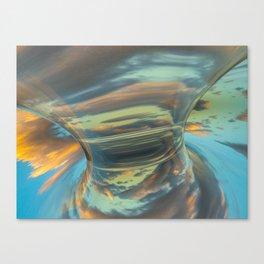 Sunrise Tornado: digital abstraction Canvas Print