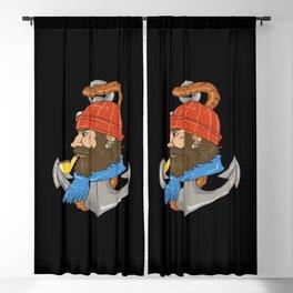 Bearded Skipper Design Blackout Curtain