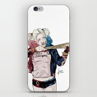 harley quinn iPhone & iPod Skins featuring Harley Quinn by jorgeink