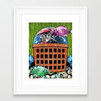 wasted rita Framed Art Prints featuring WASTED by Laertis Art