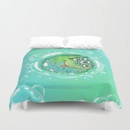 Bacillus B0b on bubble-transport Duvet Cover