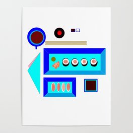 A Sushi Dinner with Tea Poster